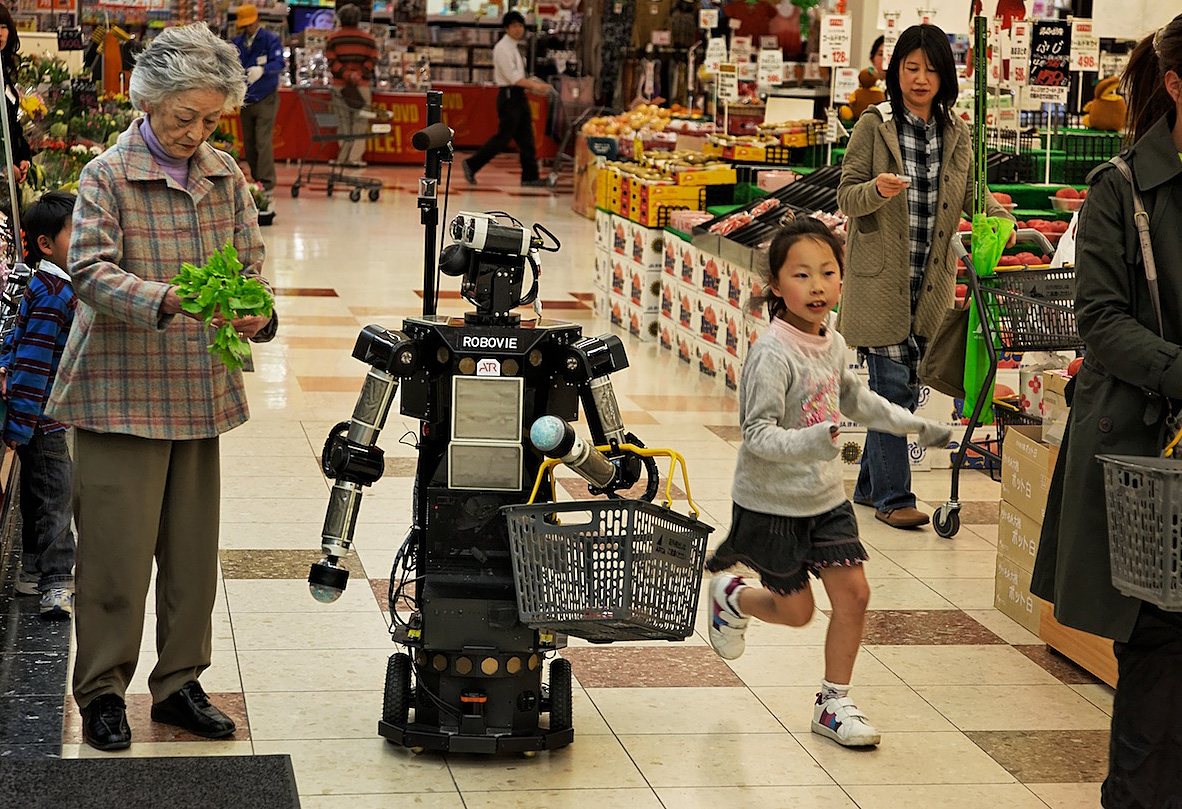 Shopping and Companion Robots and for Elderly | Kyoto, Japan