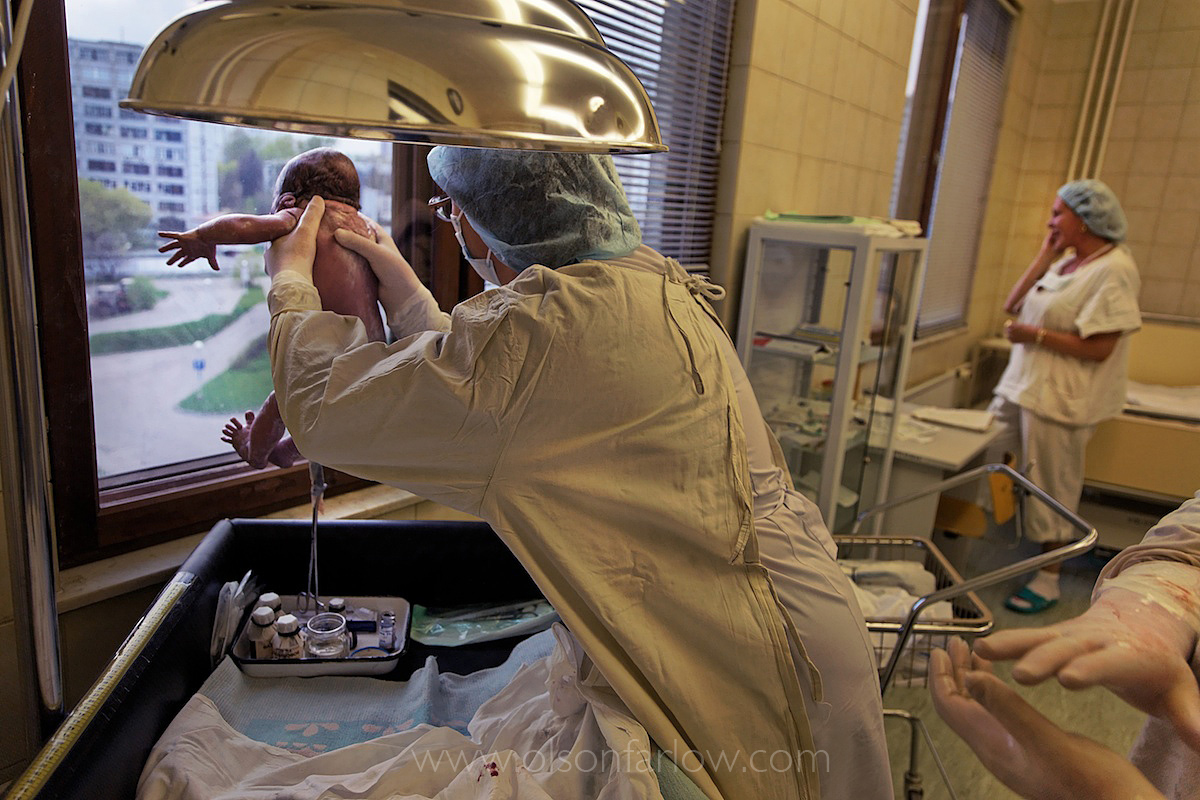Holding the Baby for the Father | Maternity Ward, Moscow, Russia