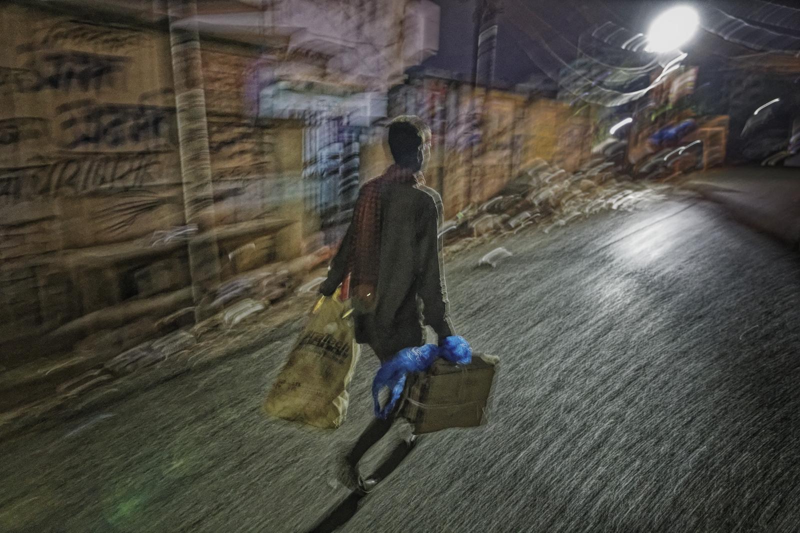 Morning Worker in Varanasi India