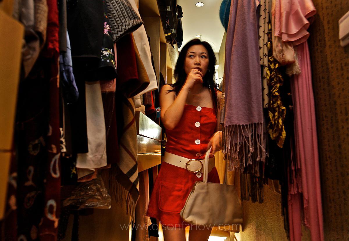 Chinese Woman Choosing What to Wear | Shanghai, China