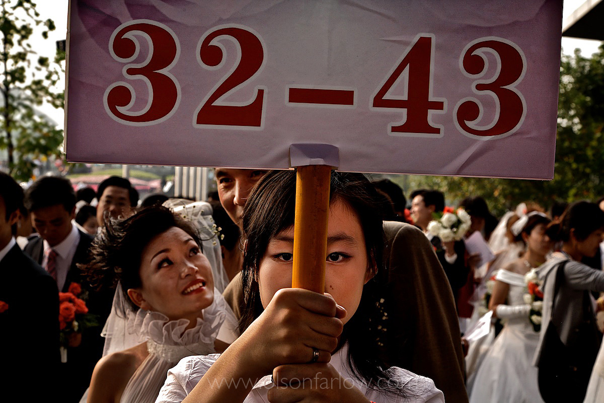 Mass Wedding | Brides Number 32-43 Line Up Behind Me