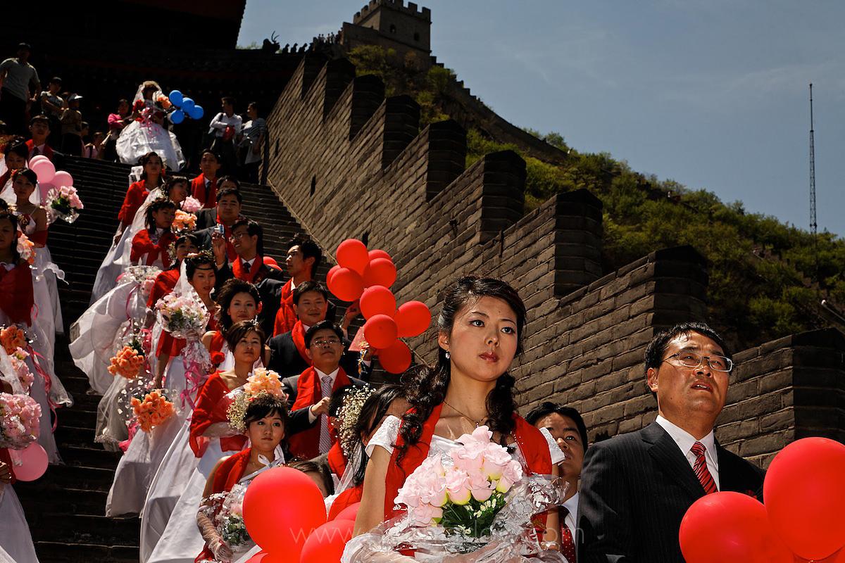 Mass Wedding at the Great Wall Near Beijing, China