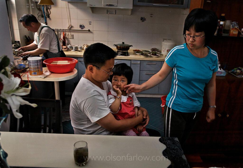 Wang Wei Gang and his family   Beijing China