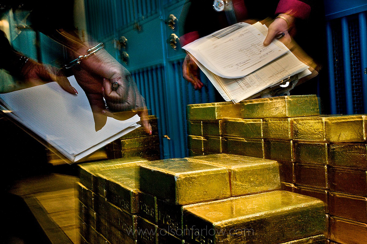 Gold Bars at the Federal Reserve Vault | New York, USA