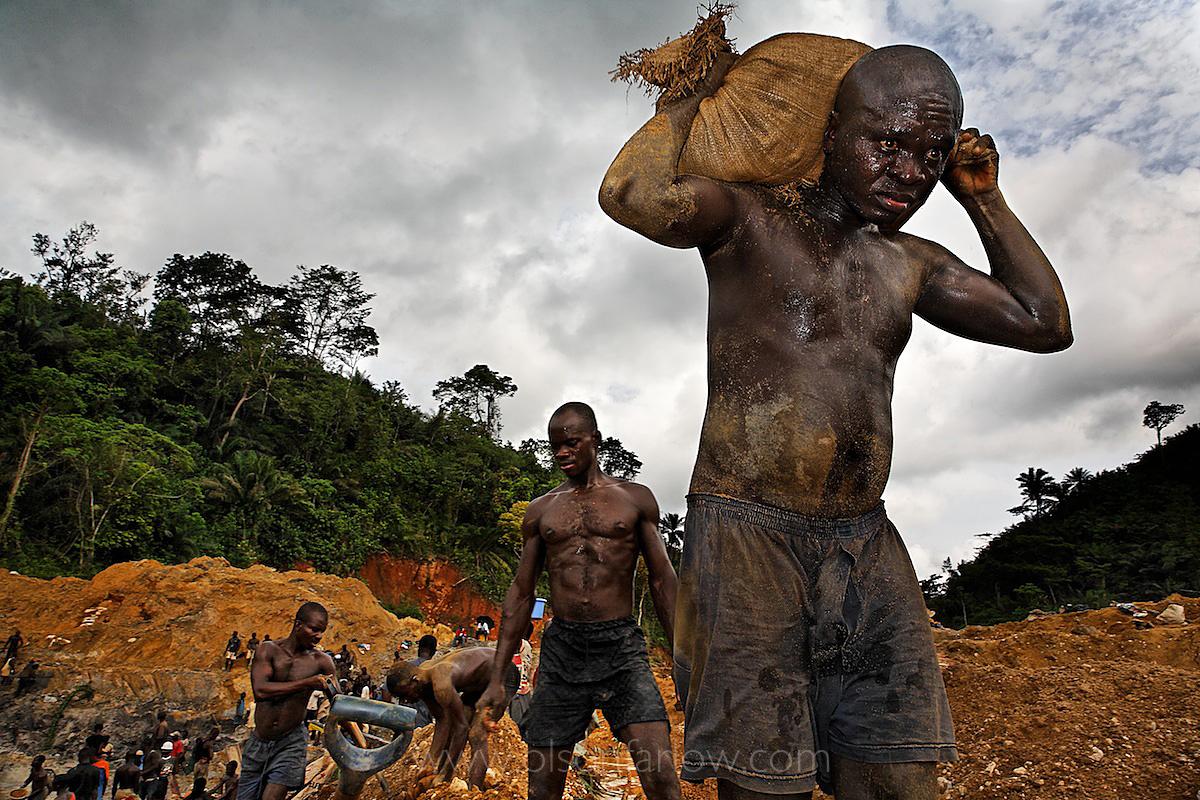 Illegal Gold Miners Ruin Landscape | Prestea, Ghana, Africa