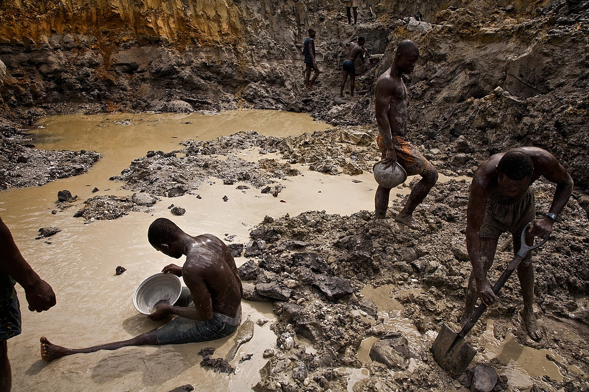 Illegal Gold Miners in Moonscape | Prestea, Ghana, Africa