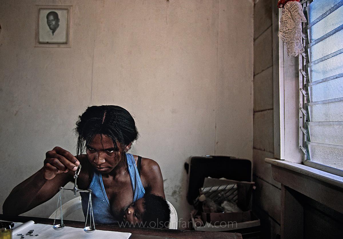 Weighing Gold for Pokeknocker Gold Miners | Guyana