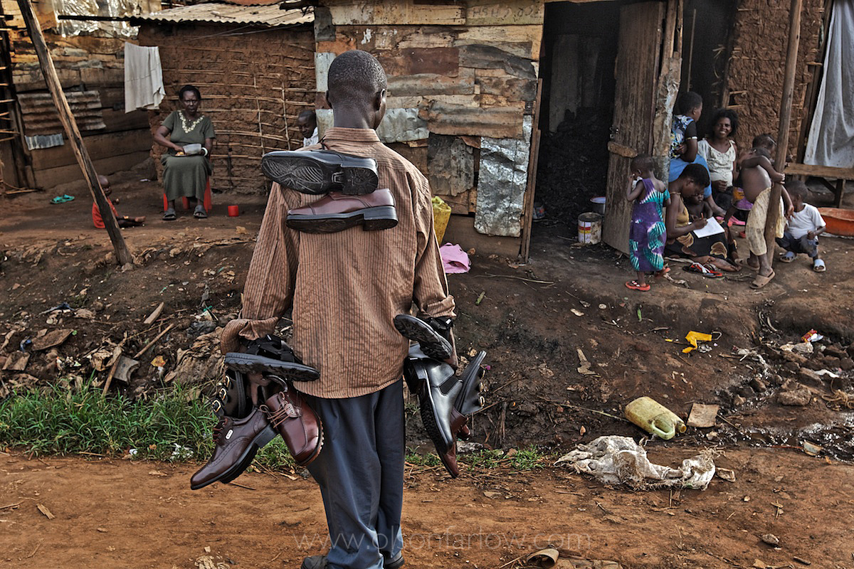 Door to Door Shoe Salesman in Nakulabye Slum | Kampala, Uganda