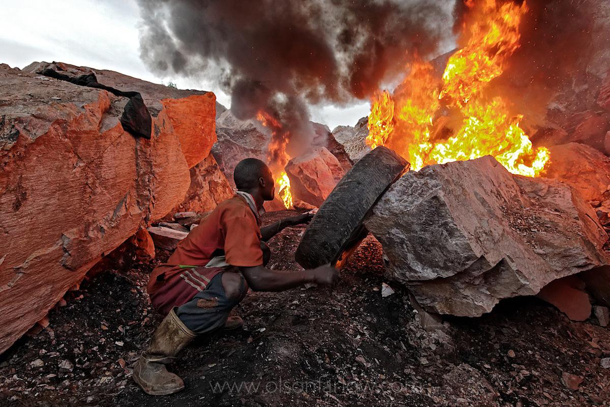War Victims Break Rocks into Gravel | Kampala, Uganda