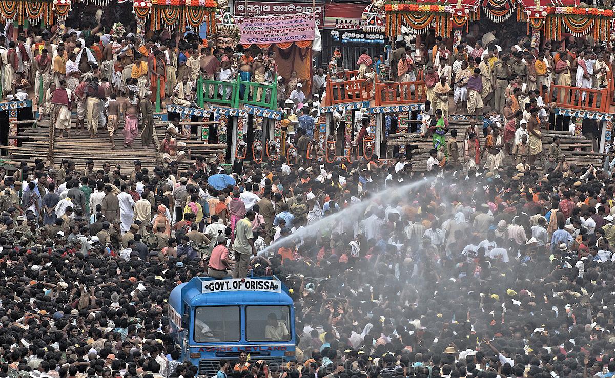 Crowds at Ratha Yatra Religious Festival | Puri, India