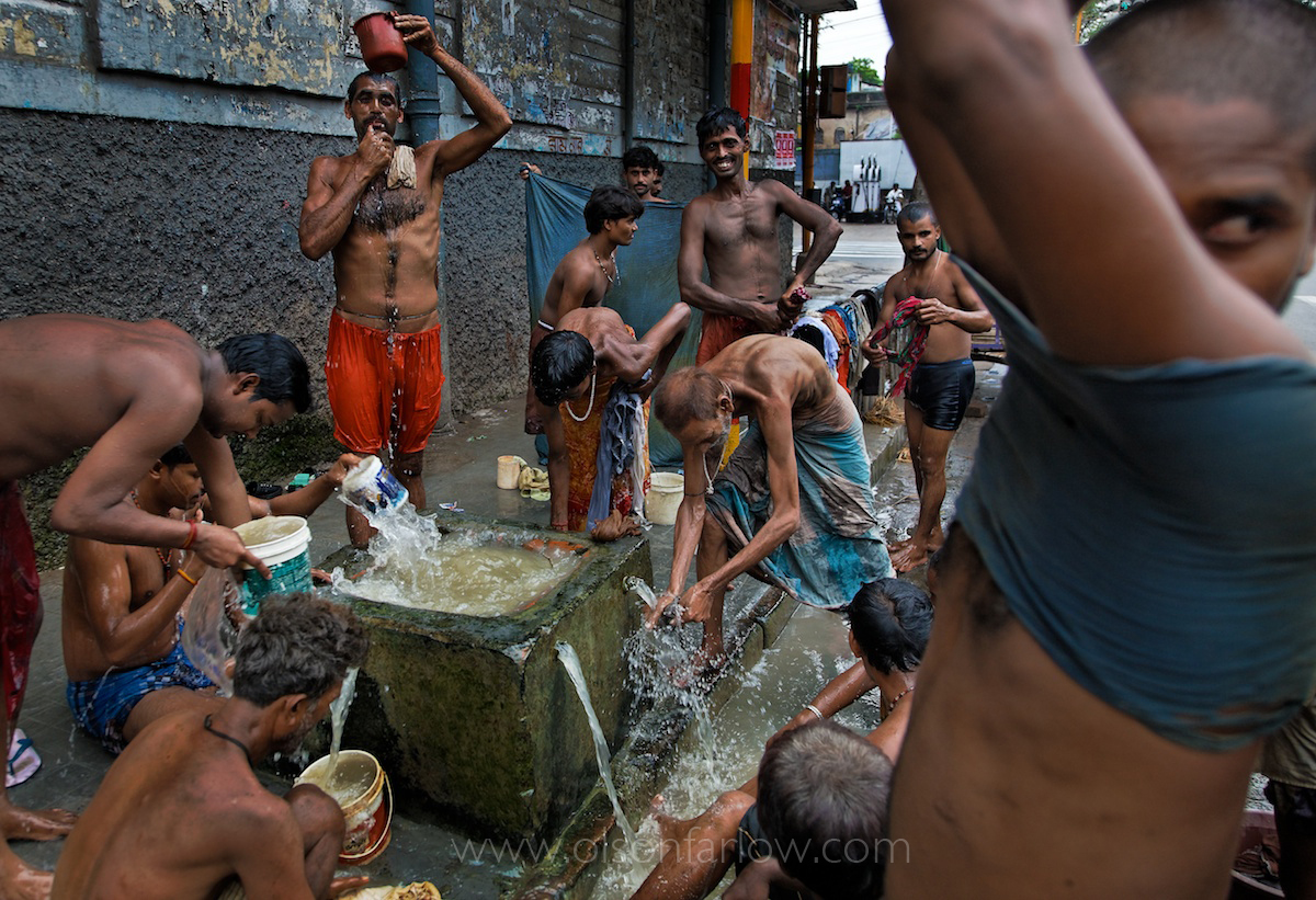 Untouchables Bathing in Former British Horse Watering Trough | India