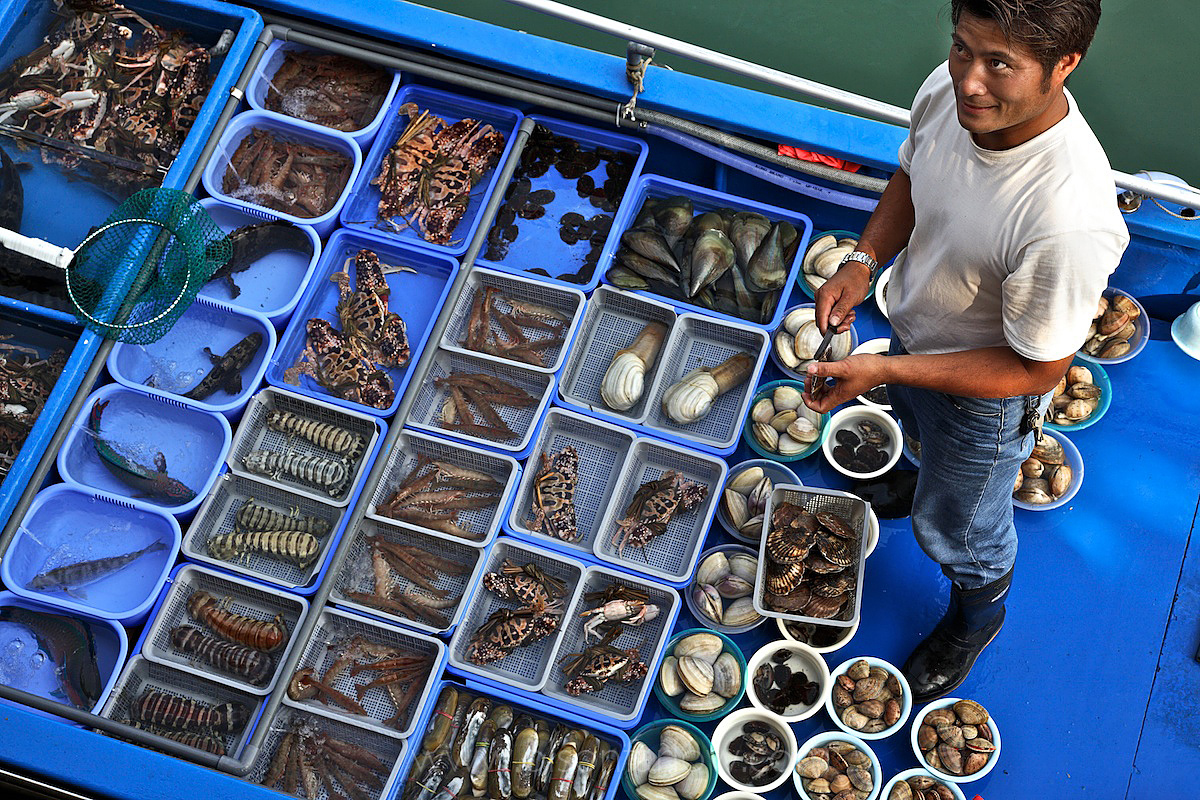 Waterside Reef Fish Salesman | Hong Kong, China