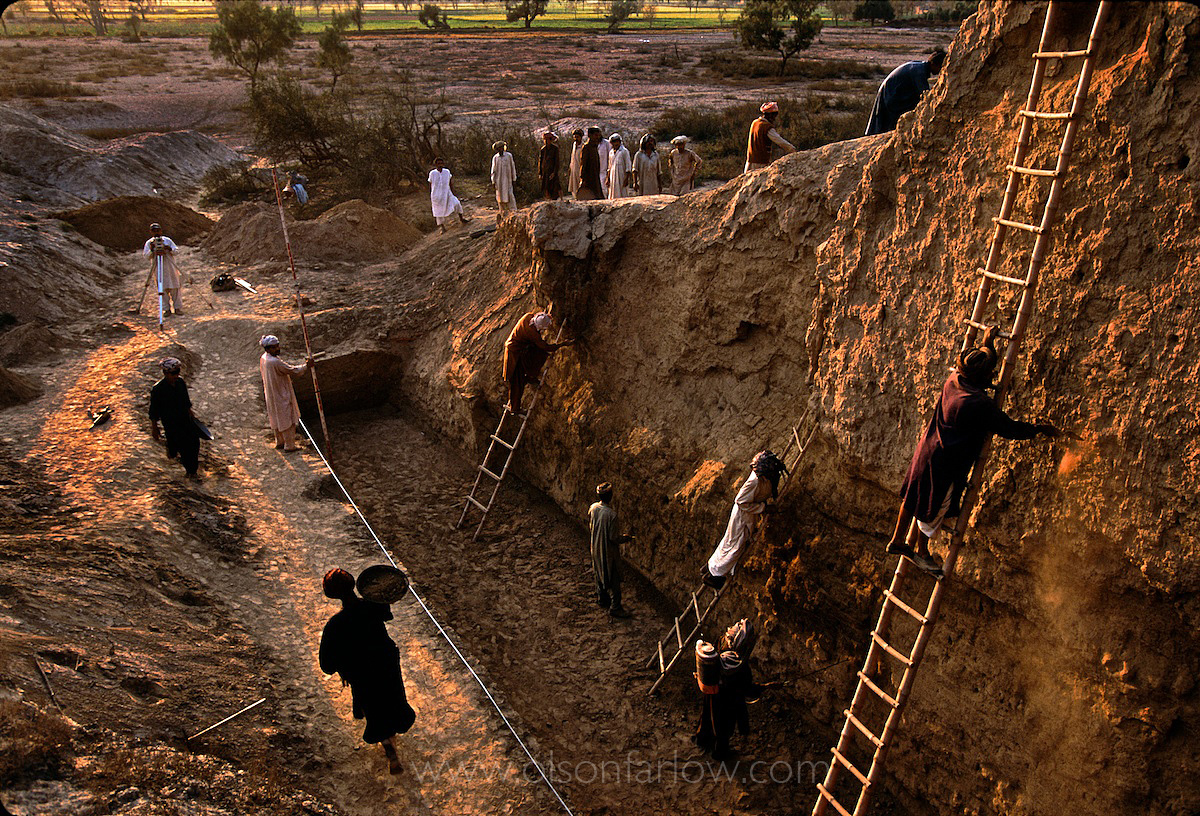 The Great Trench | Main City Wall in Ancient Harappa, Pakistan