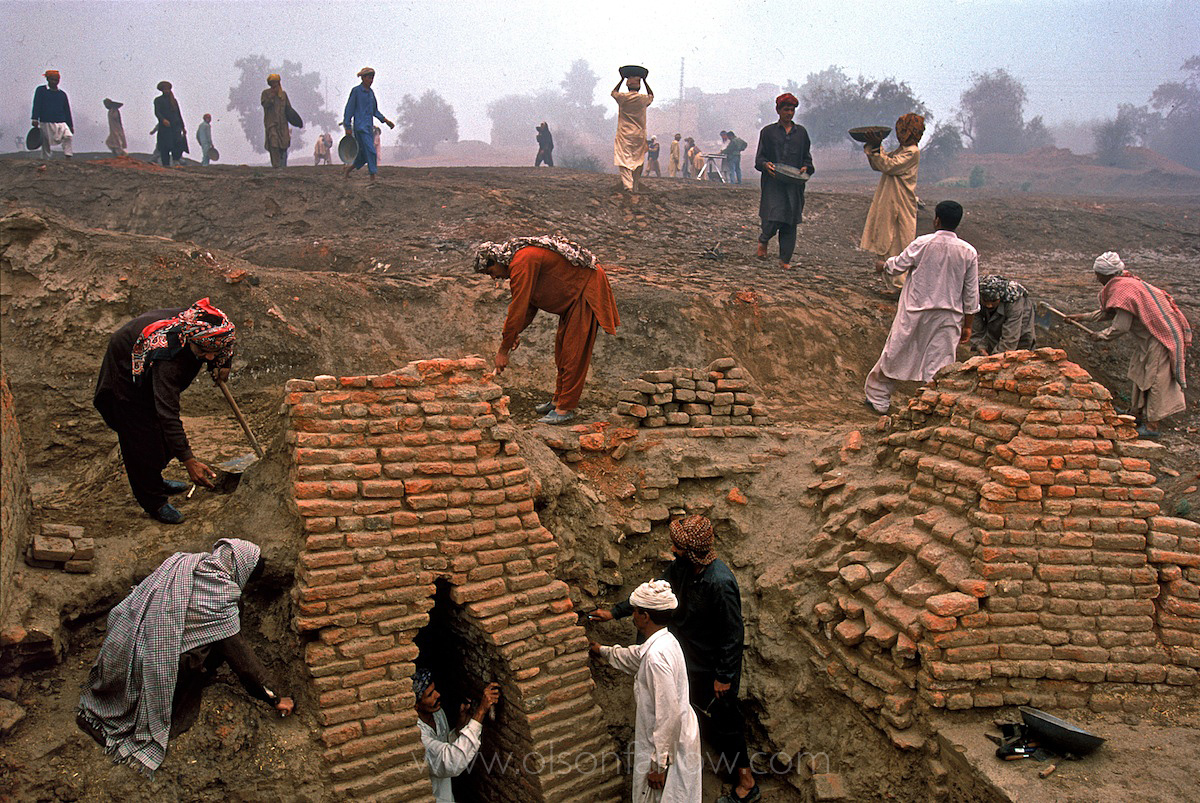 The Main Sewer Drain in Ancient Harappa | Pakistan
