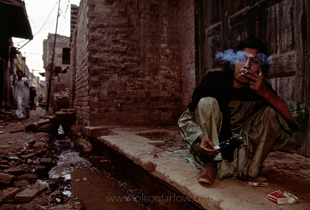 Heroin Addict, Old City | Lahore, Pakistan