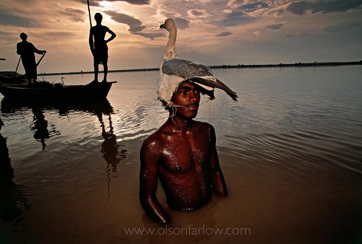 Bird Hunter With Decoy Hat, Indus River | Mohenjo Daro, Pakistan