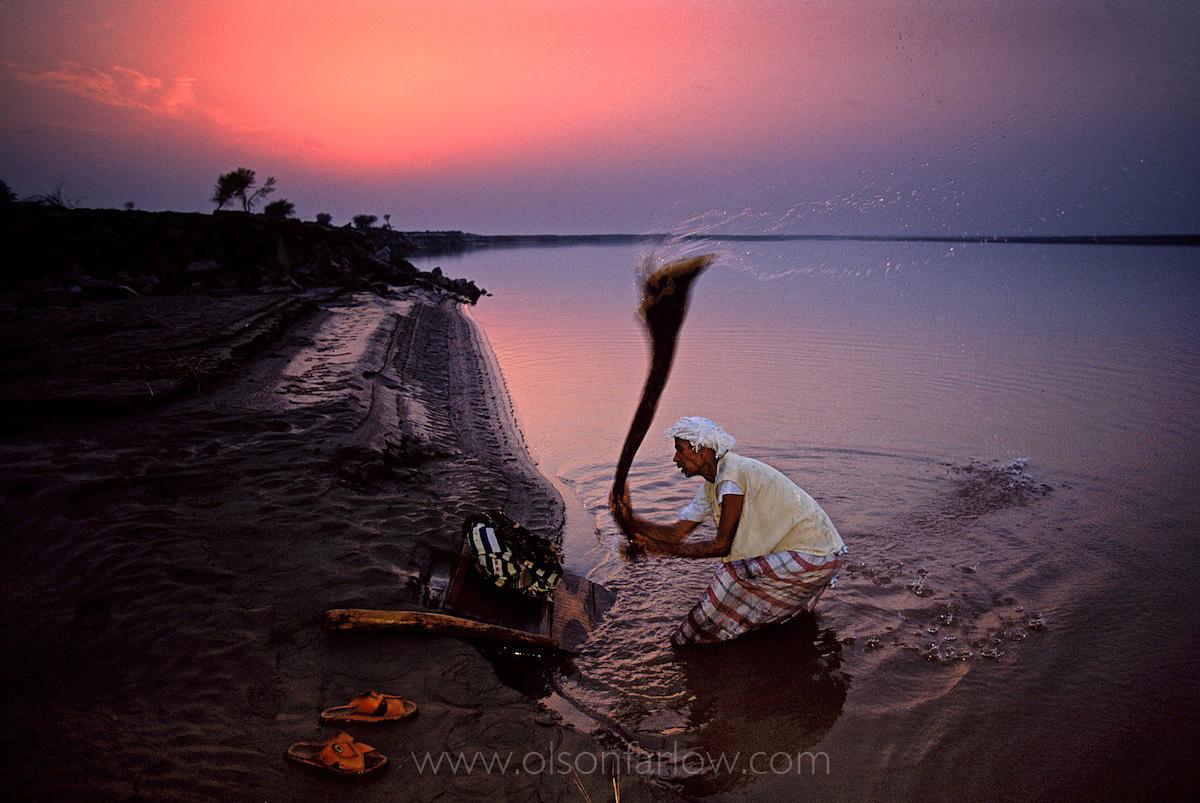 Washerman in Ravi River | Indus Valley, Pakistan