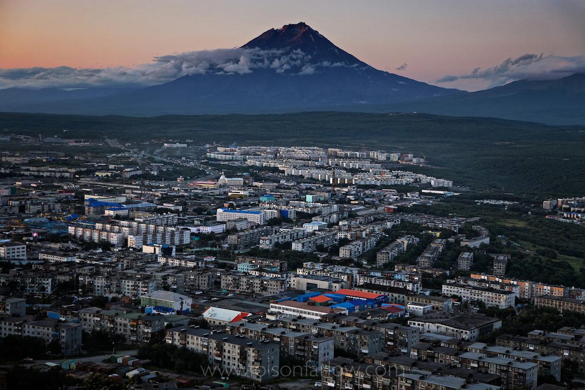 City of Petropavlovsk in Kamchatka