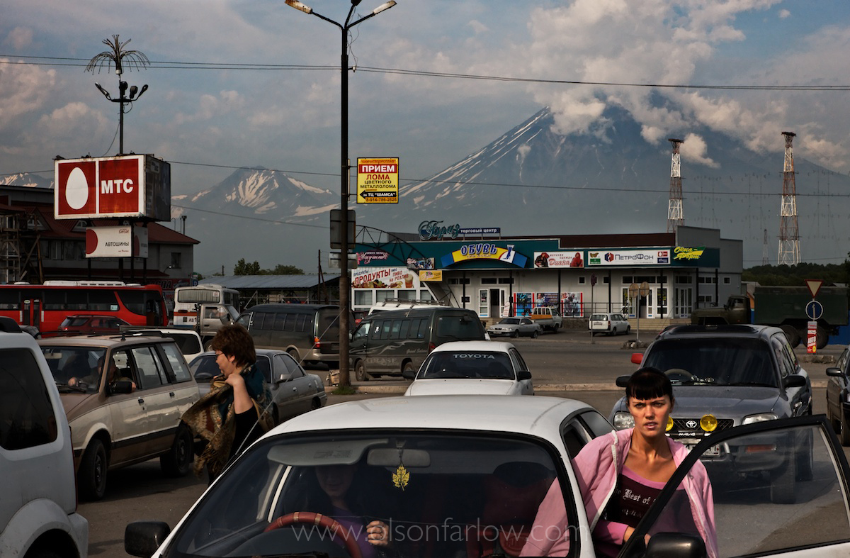 Nine Volcanoes surround Petropavlovsk