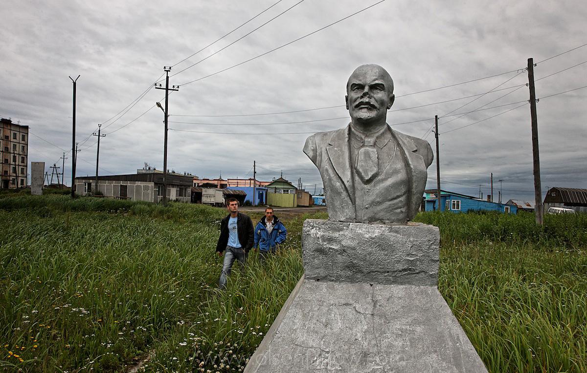 Lenin Statue in Ust Bolsheretsk