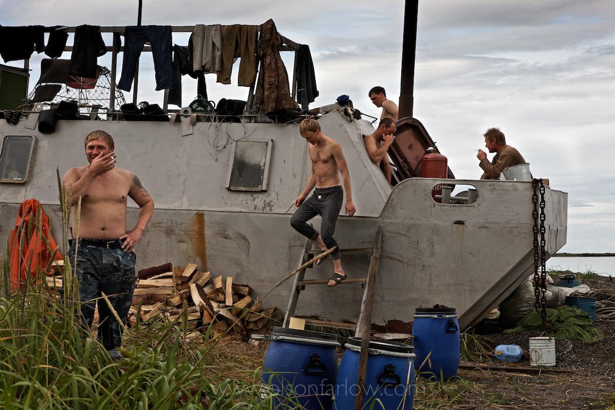 Russian Salmon Fishing in Oktyabrski