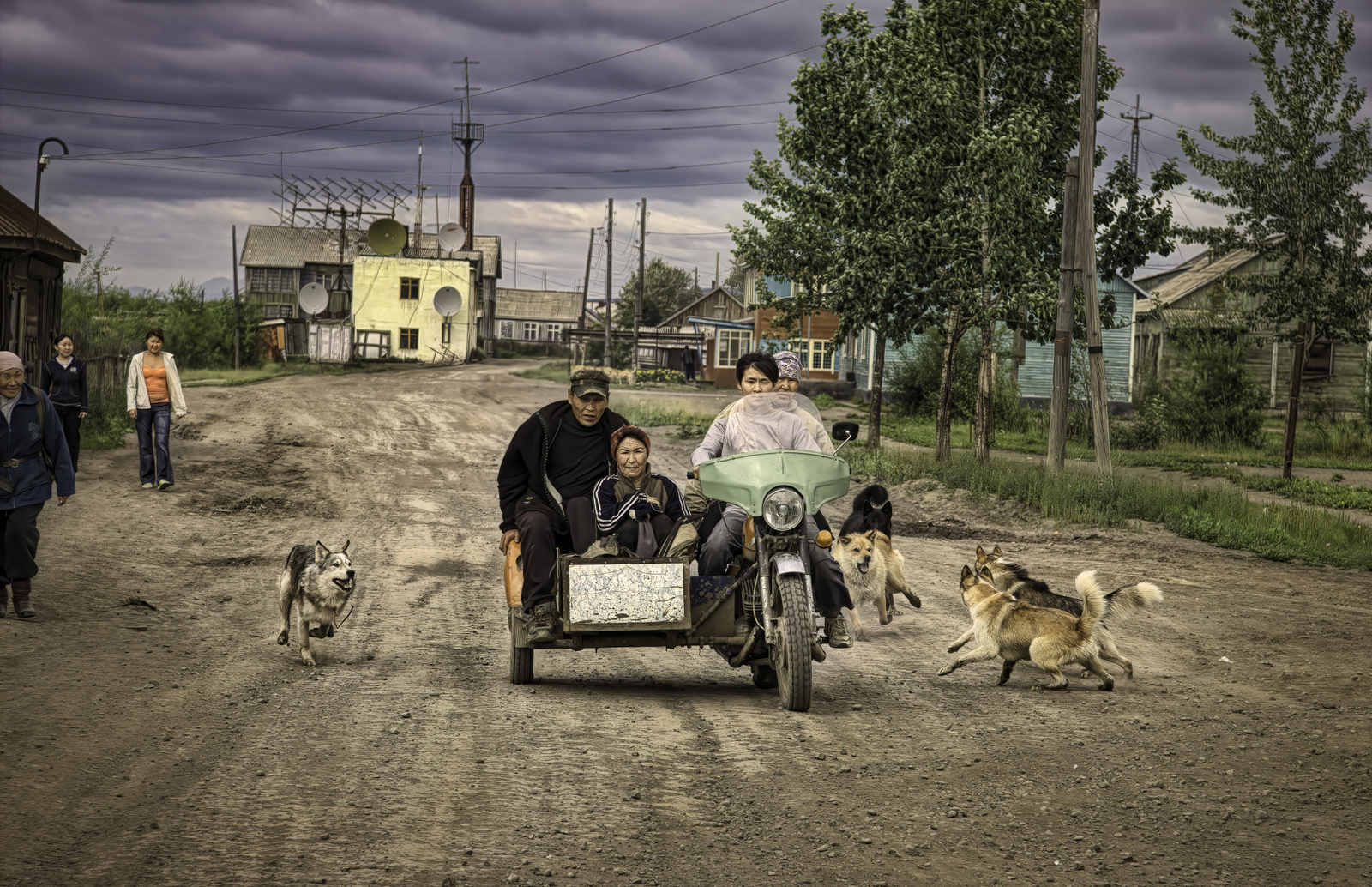 Motorcycle with Sidecar in Russia