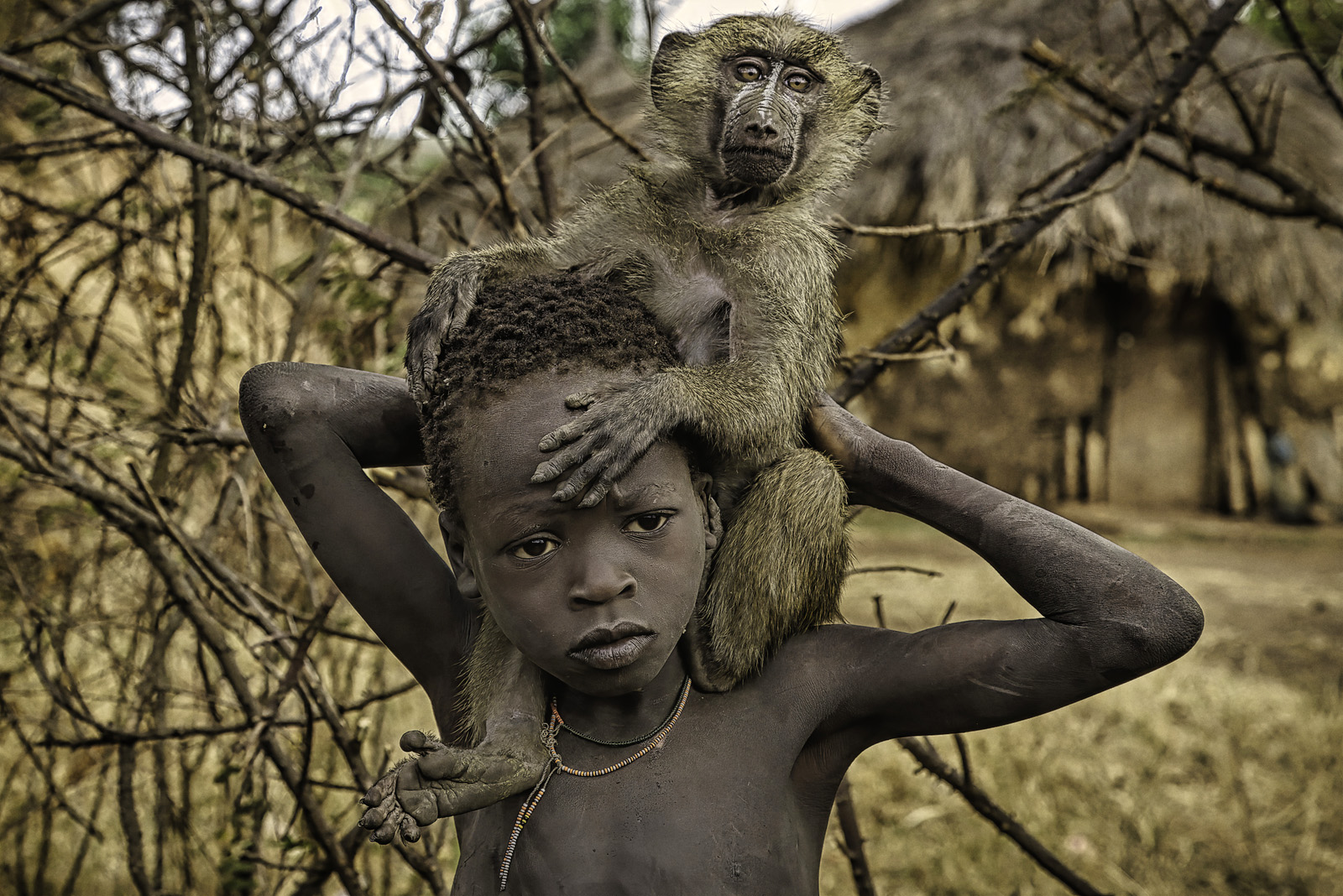 Child and His Baboon