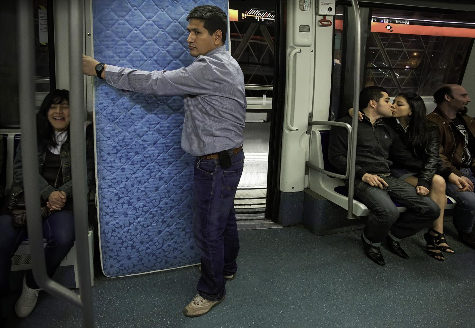 Spanish World Immigrants on Subway | Barcelona, Spain