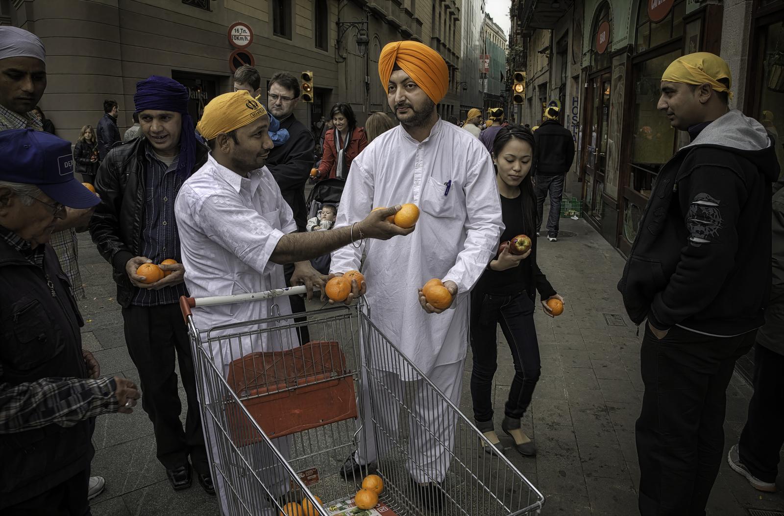 Indian Immigrants, Ramblas Catalunya | Barcelona, Spain