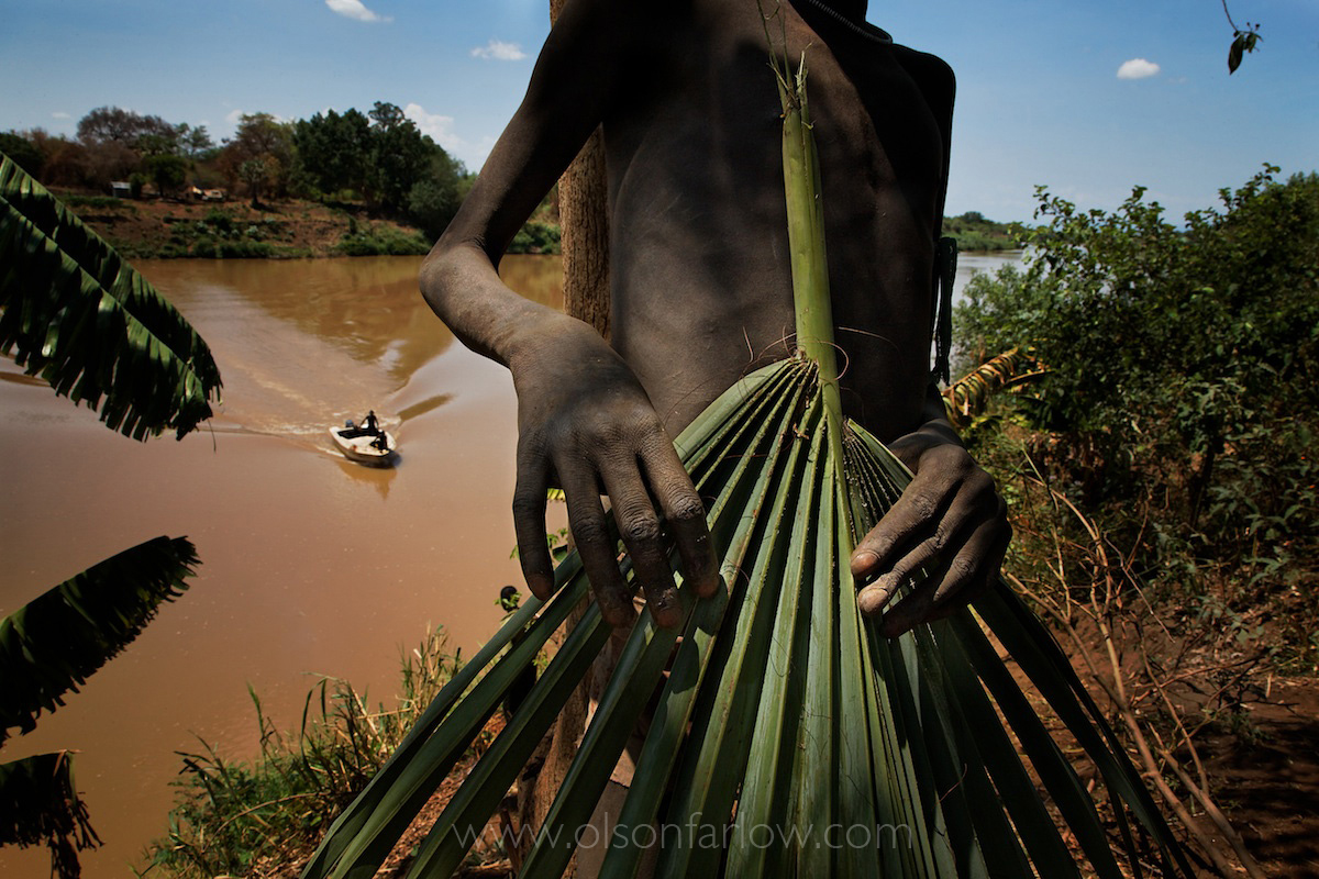 Mursi Child with Leaf Frond