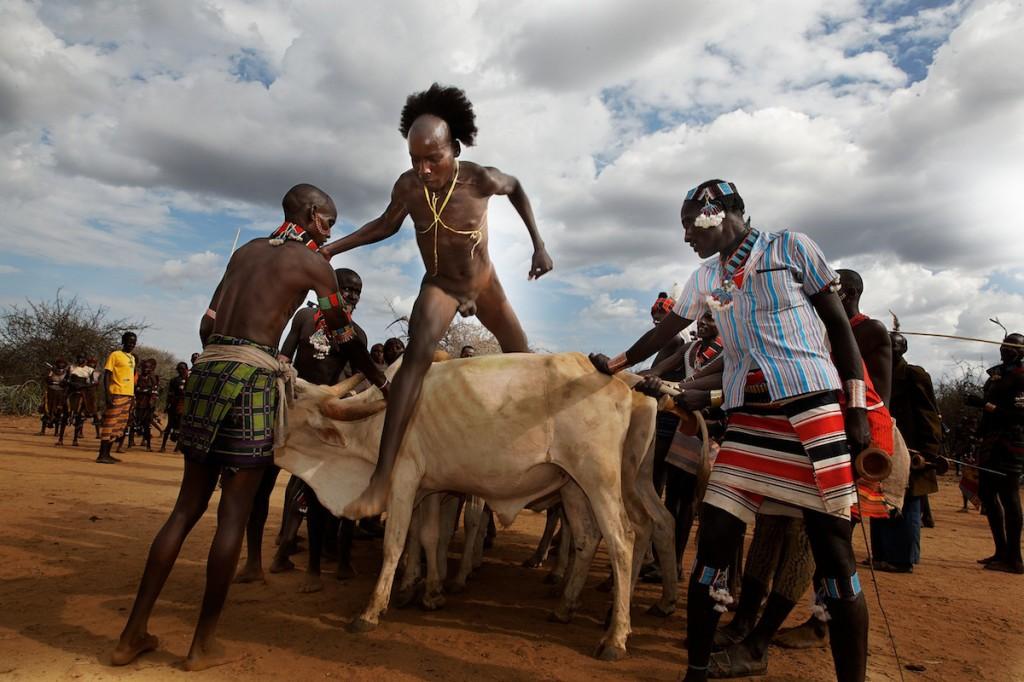 Hamar and Karo Tribes Bull-Jumping Manhood Ceremony | Ethiopia