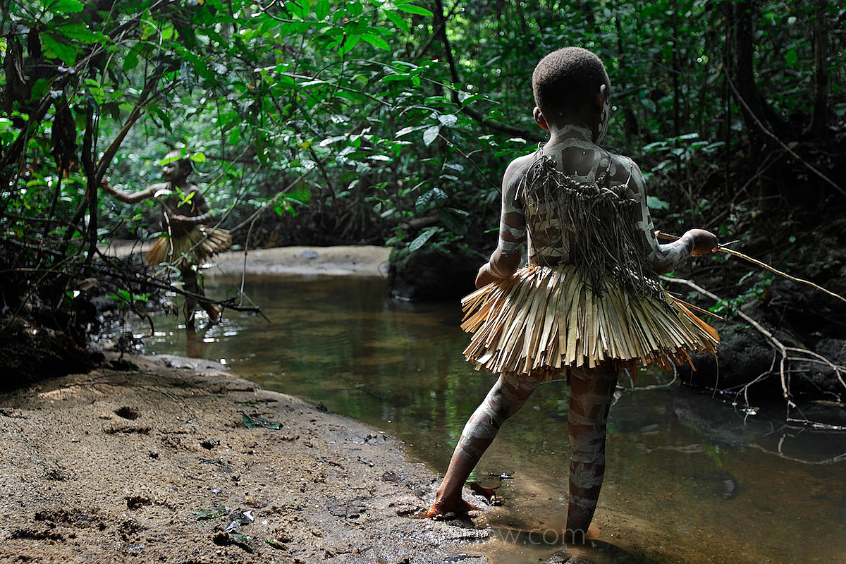 Pygmy Boys Learn to Fish | Forest Hunting Camp in Ituri | DR Congo
