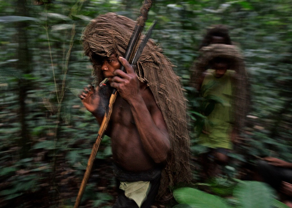 Net Hunting Pygmy Smoking Dope | Ituri Forest, DR Congo