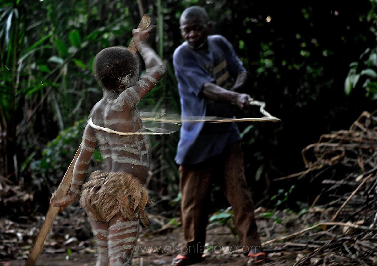 Bantu Leader Whips Pygmy Boy | Manhood Ritual | Ituri Forest, DR Congo