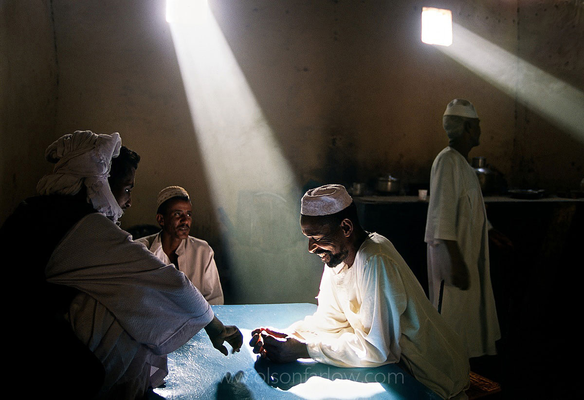Nice light in the Interior of Restaurant in Northern Sudan