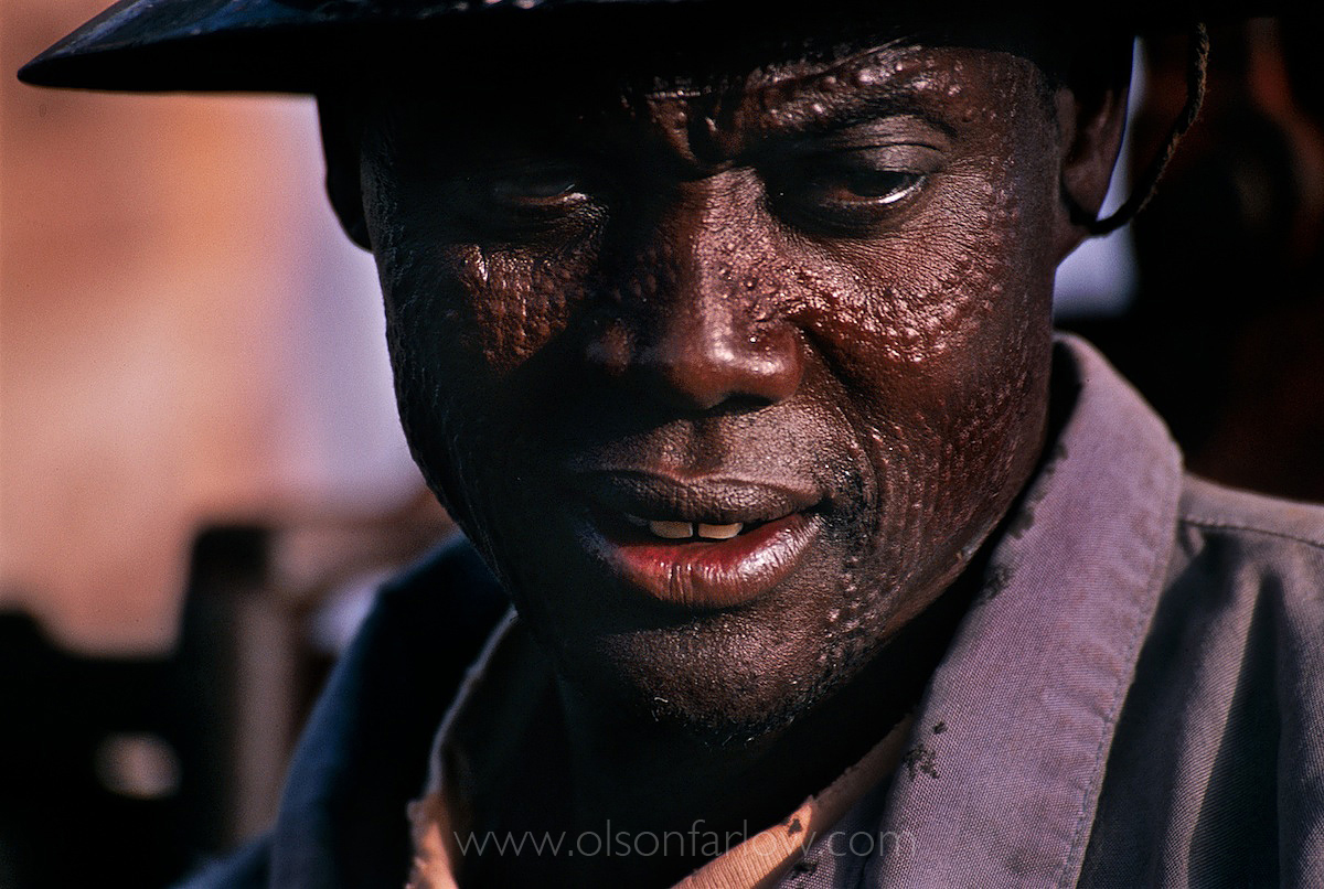 Dinka Oil Worker With Scarification | Oil Fields, Southern Sudan