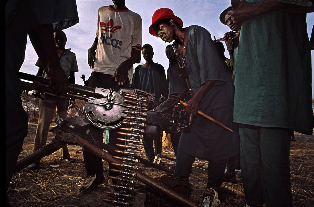Rebels With Ancient Machine Gun | Ruweng County | South Sudan