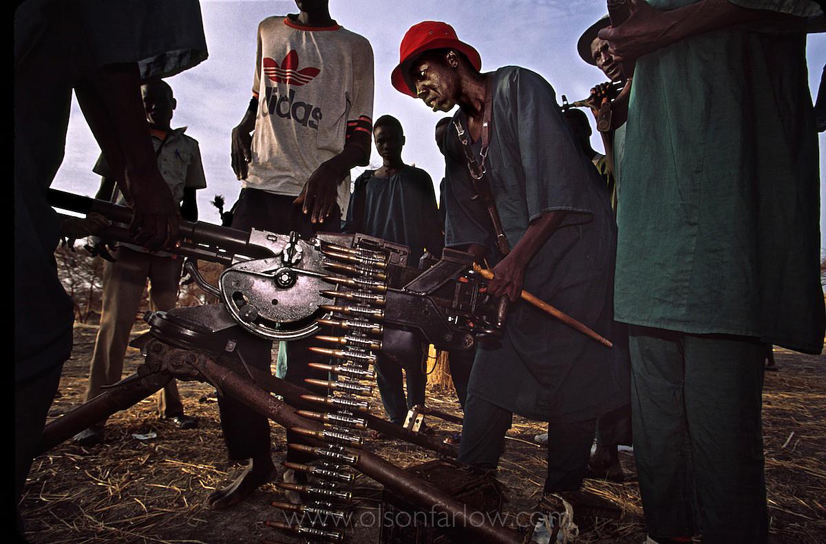 Rebels With Ancient Machine Gun | Ruweng County | South Sudan