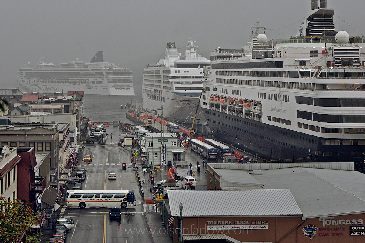 Cruise Ships Carry Tourists
