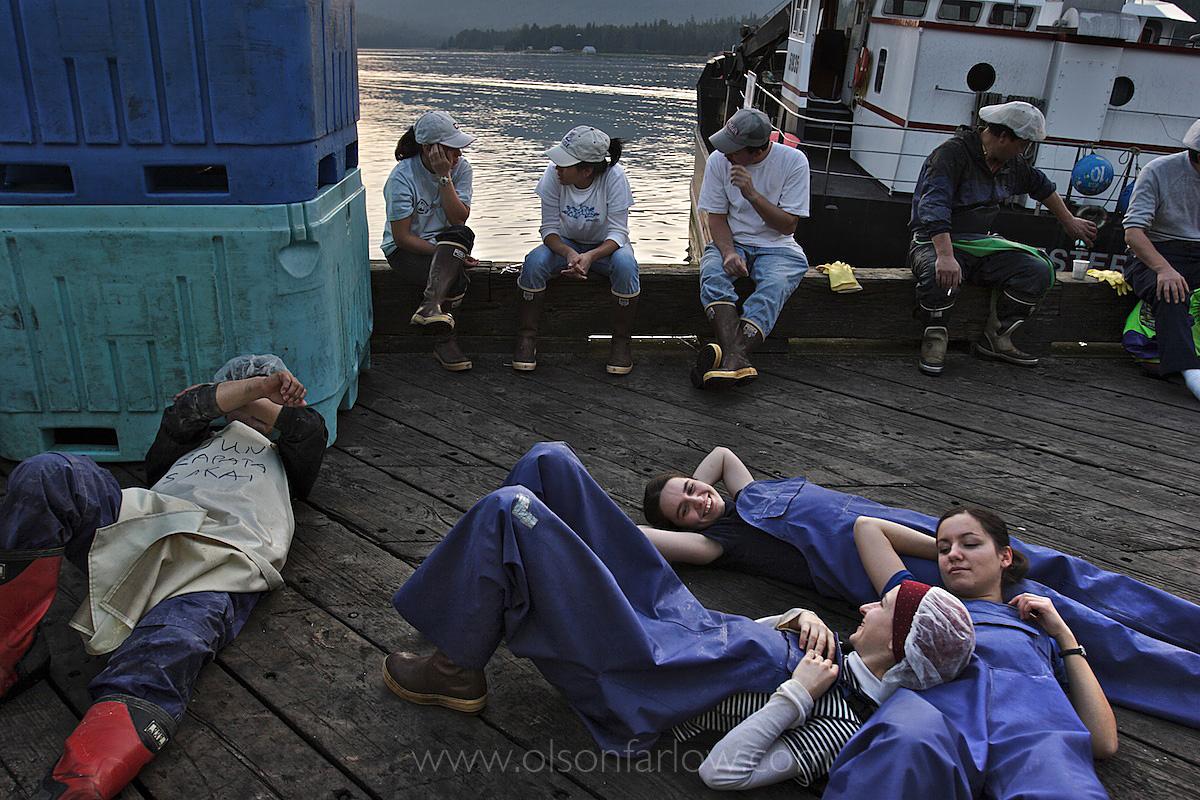 Cannery Workers On Break