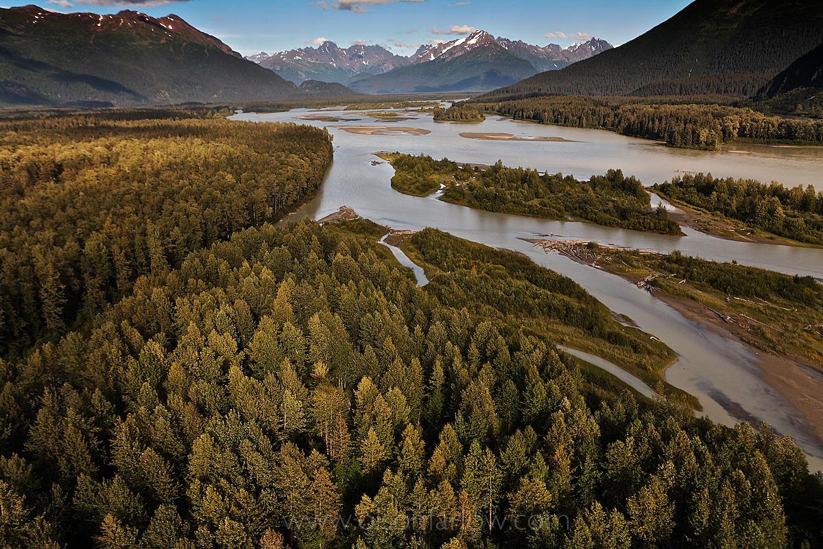 Taku River In Alaskan Wilderness
