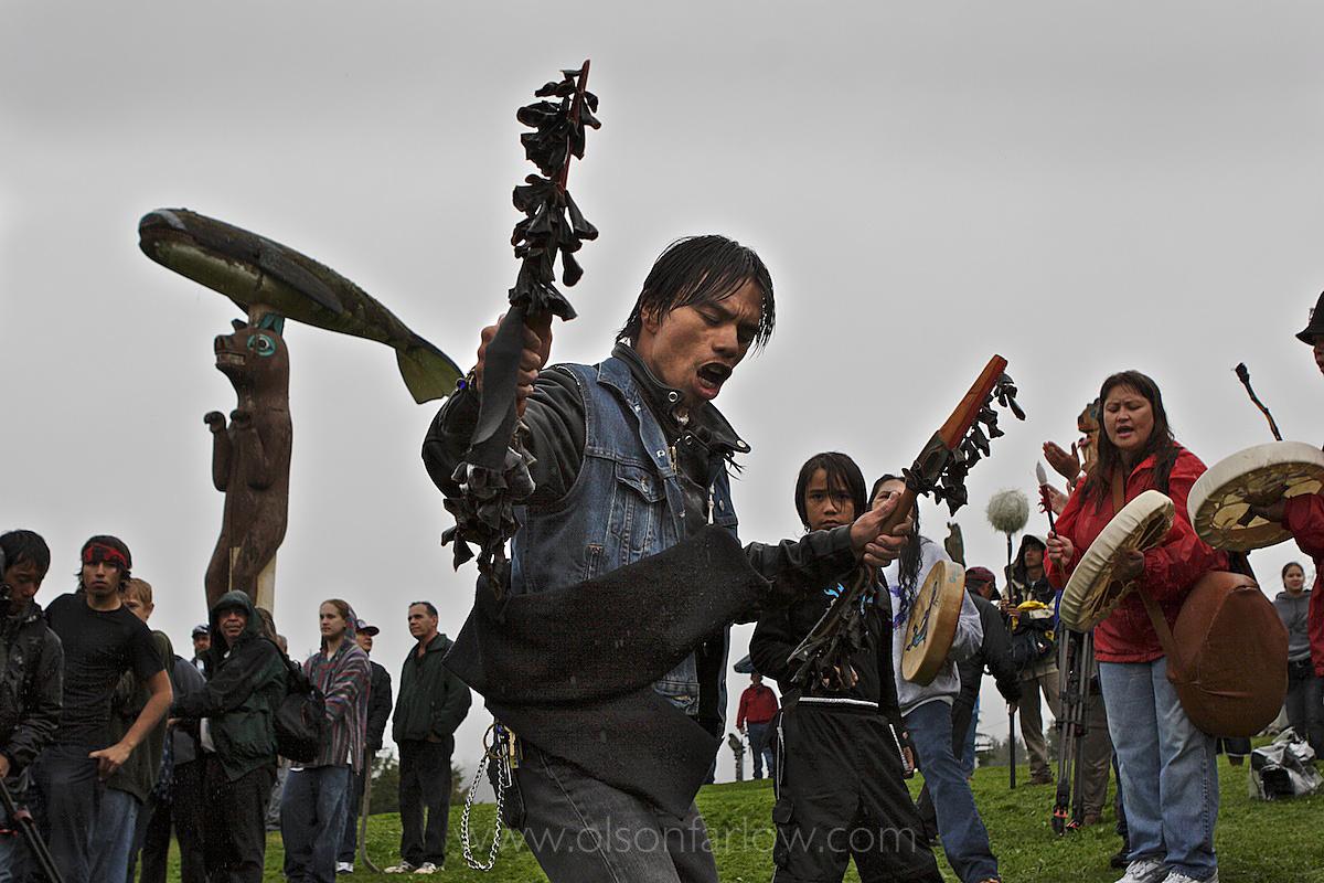 Totem Raising Ceremony